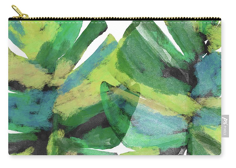 Tropical Carry-all Pouch featuring the mixed media Tropical Dreams 1- Art by Linda Woods by Linda Woods
