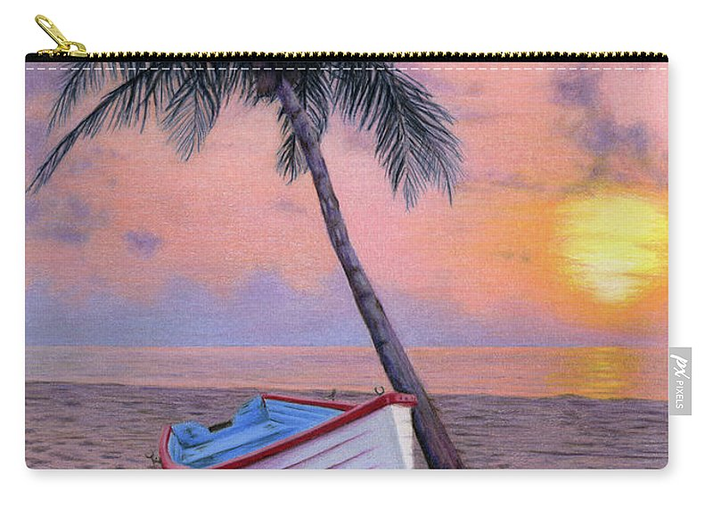 Tropical Carry-all Pouch featuring the painting Tropical Escape by Sarah Batalka