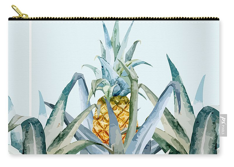 Summer Carry-all Pouch featuring the painting Tropical Feeling by Mark Ashkenazi