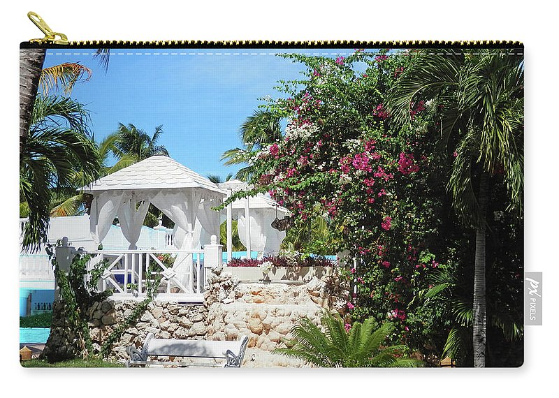 Garden Carry-all Pouch featuring the photograph Tropical Garden by Pema Hou