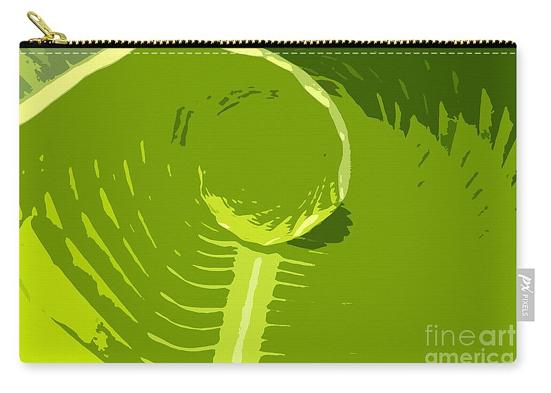 Green Carry-all Pouch featuring the digital art Tropical Green by David Lee Thompson