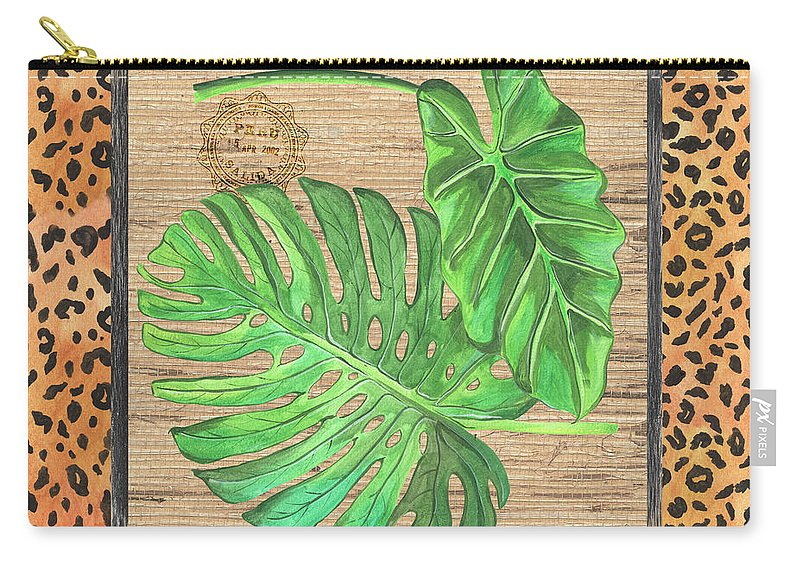 Palm Carry-all Pouch featuring the painting Tropical Palms 2 by Debbie DeWitt