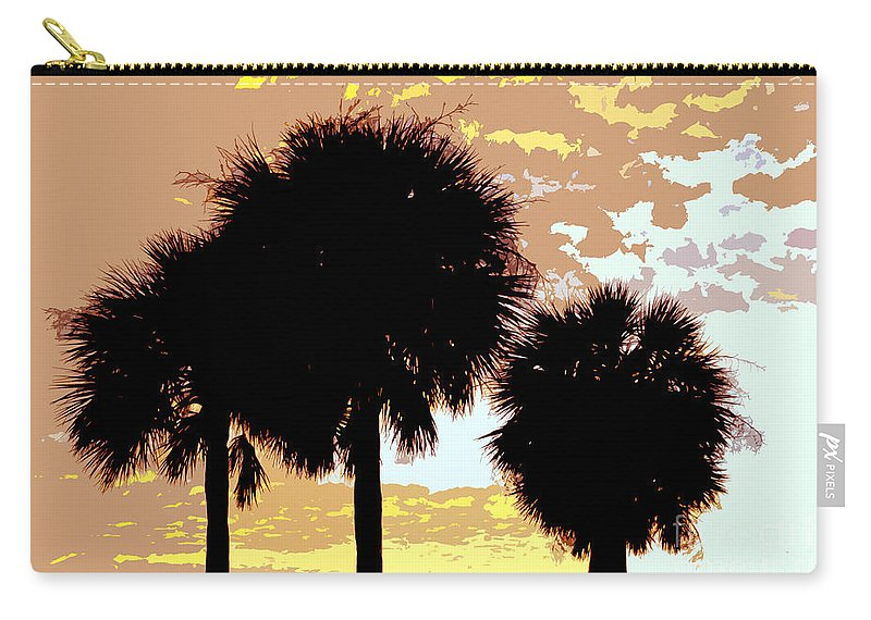 Tropical Carry-all Pouch featuring the painting Tropical Palms Work Number Four by David Lee Thompson