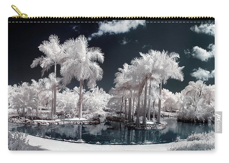 3scape Photos Carry-all Pouch featuring the photograph Tropical Paradise Infrared by Adam Romanowicz