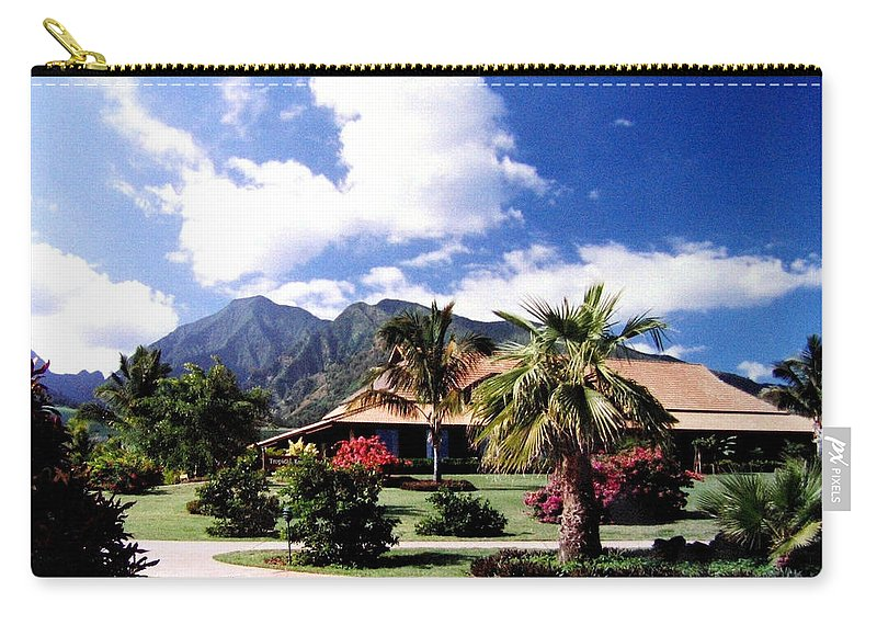1986 Carry-all Pouch featuring the photograph Tropical Plantation by Will Borden