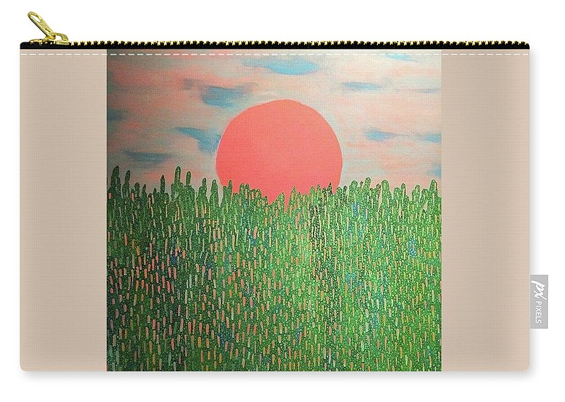 Painting Carry-all Pouch featuring the painting Tropical Spring by Natalie Gates