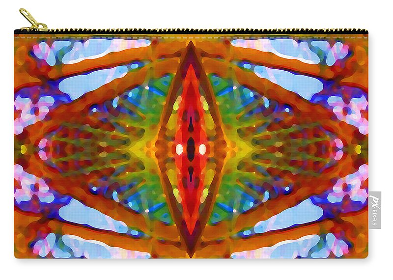 Abstract Carry-all Pouch featuring the painting Tropical Stained Glass by Amy Vangsgard
