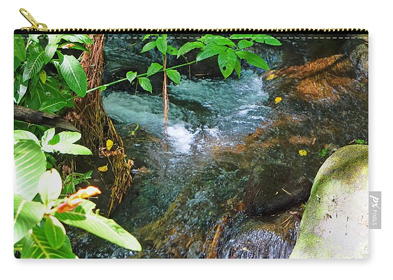 Pamela Walton Carry-all Pouch featuring the photograph Tropical Stream by Pamela Walton