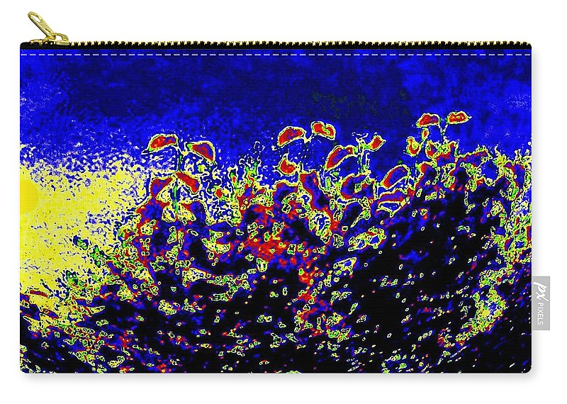 Abstract Carry-all Pouch featuring the digital art Tropical Sunrise 2 by Will Borden