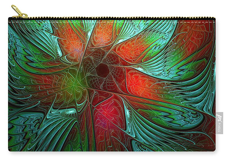 Digital Art Carry-all Pouch featuring the digital art Tropical Tones by Amanda Moore