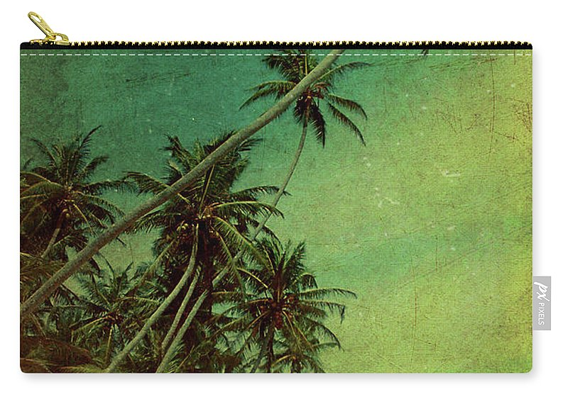 Palm Carry-all Pouch featuring the photograph Tropical Vestige by Andrew Paranavitana