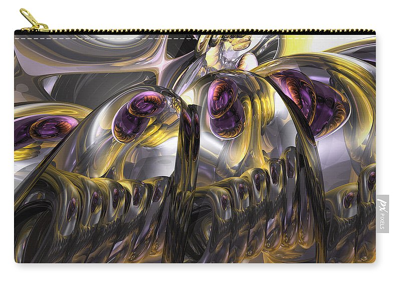 3d Carry-all Pouch featuring the digital art Tropical Wind Abstract by Alexander Butler