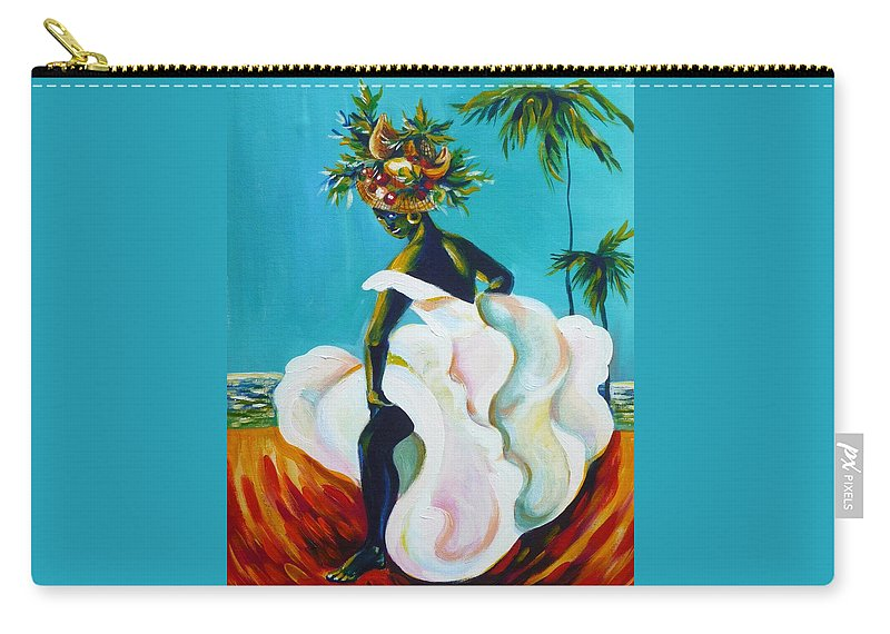 Travel Carry-all Pouch featuring the painting Tropicana by Anna Duyunova