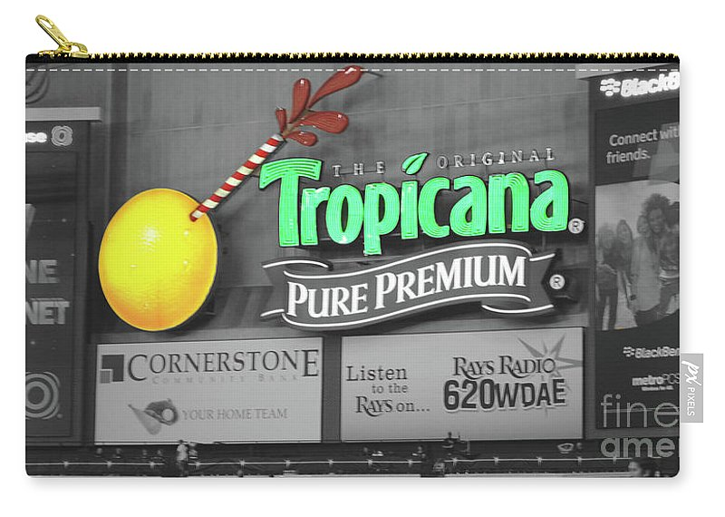 Tropicana Carry-all Pouch featuring the photograph Tropicana Field by Jost Houk