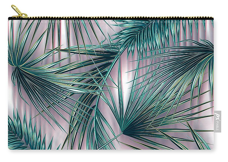 Summer Carry-all Pouch featuring the digital art Tropicana by Mark Ashkenazi