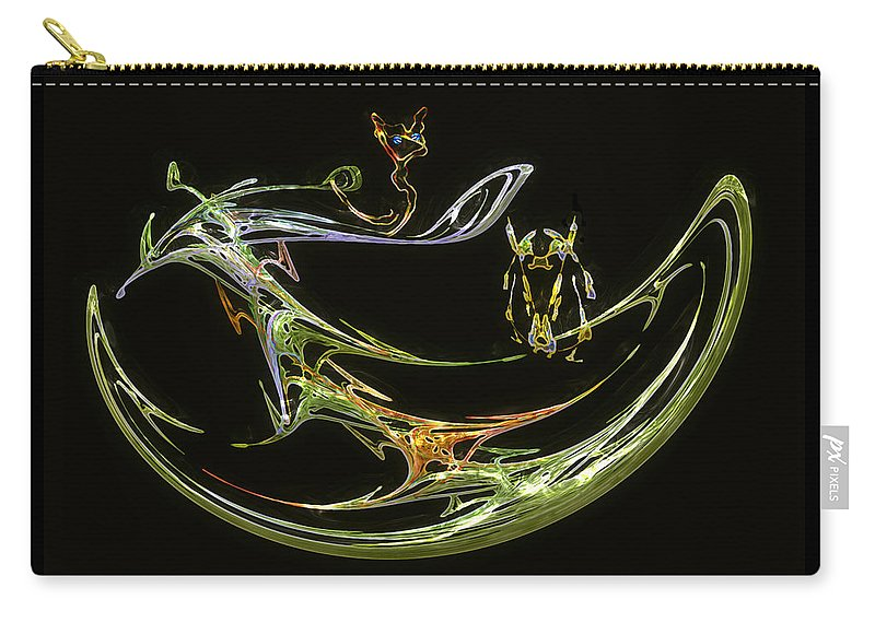 Boat Carry-all Pouch featuring the digital art Trouble In Paradise by RC deWinter