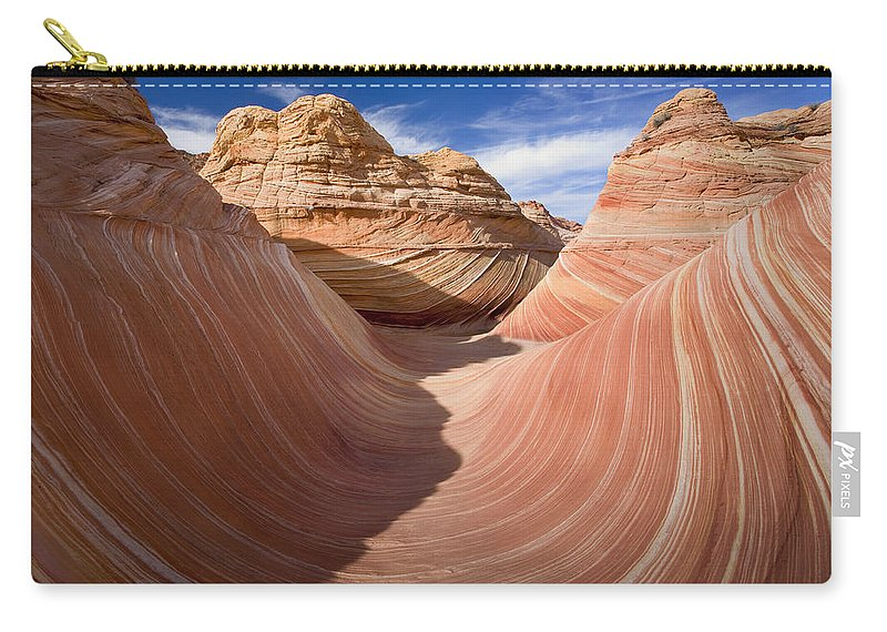 The Wave Carry-all Pouch featuring the photograph Trough Of The Wave by Mike Dawson