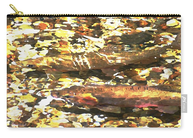 Sun Carry-all Pouch featuring the photograph Trout Stream by Greg Hammond
