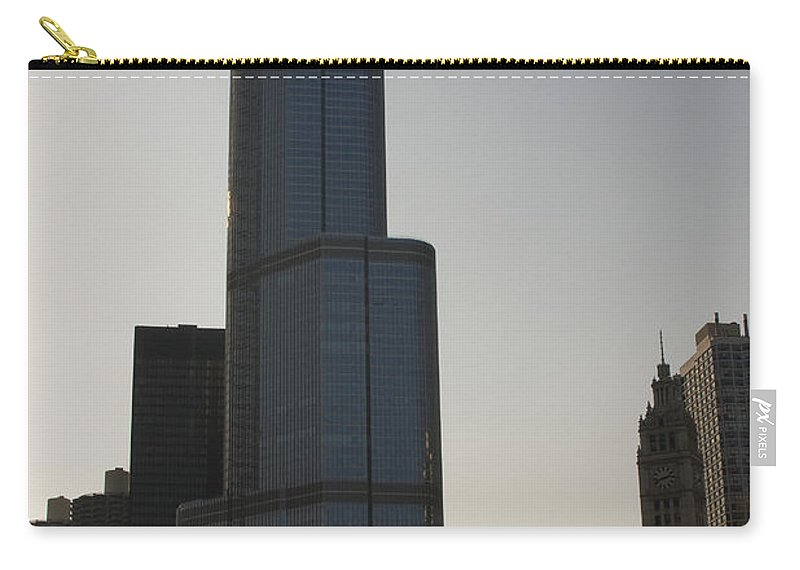Chicago Windy City Tall Building Tower Donald Trump Hotel Skyscraper Metro Urban Carry-all Pouch featuring the photograph Trump International Hotel And Tower by Andrei Shliakhau