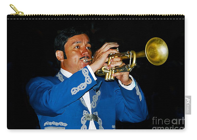 Trumpet5 Carry-all Pouch featuring the photograph Trumpet Player by David Lee Thompson