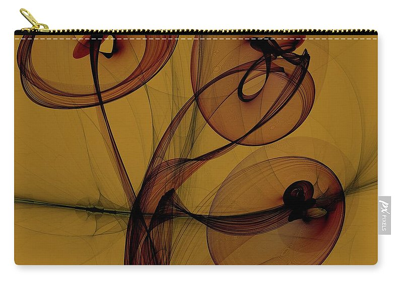 Digital Art Carry-all Pouch featuring the digital art Trumpets Of Jericho by Dragica Micki Fortuna