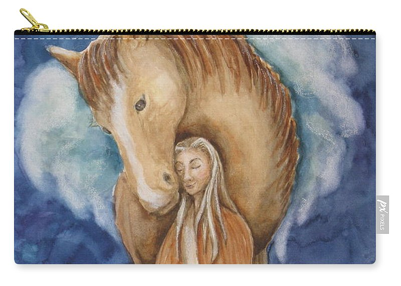 Horse Carry-all Pouch featuring the painting Trust by Kym Stine