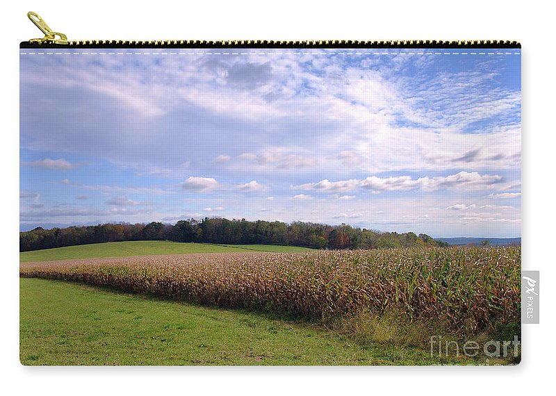 Trusting Harvest Carry-all Pouch featuring the photograph Trusting Harvest by Cj Mainor