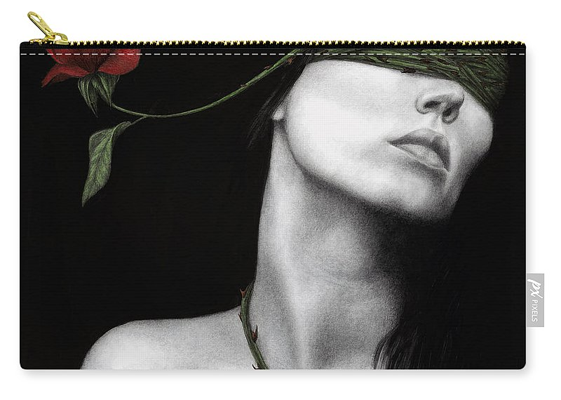 Woman Carry-all Pouch featuring the painting Truth Of Beauty by Pat Erickson