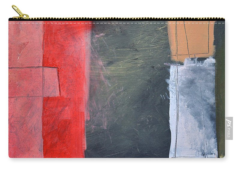 Pink Carry-all Pouch featuring the painting Trying To Get My Head Around Pink by Tim Nyberg