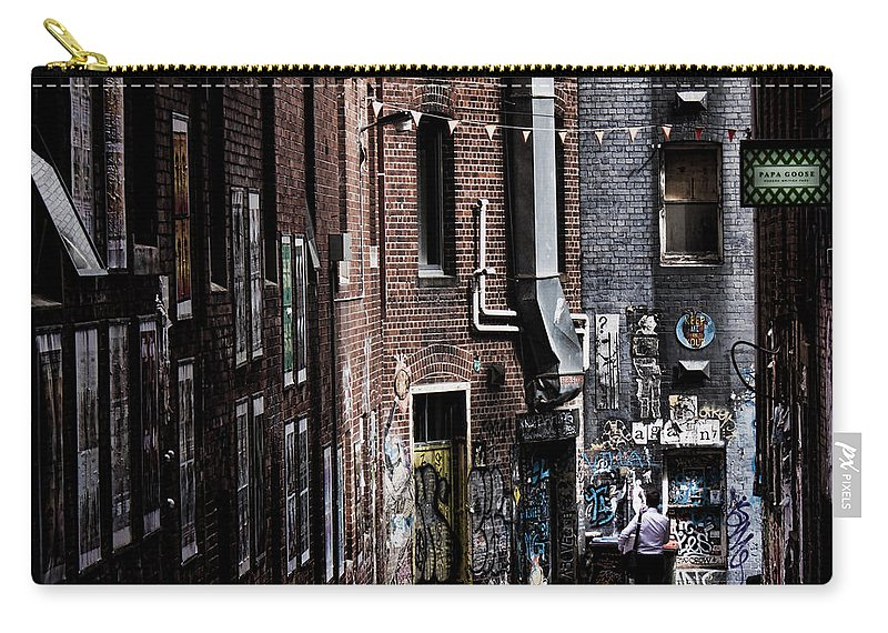Melbourne Carry-all Pouch featuring the photograph Tryst by Andrew Paranavitana