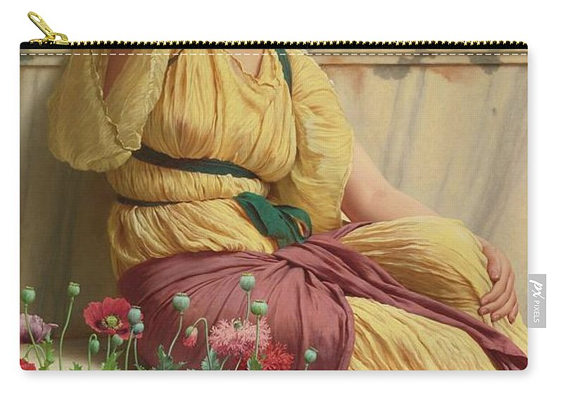 John William Godward 1861 - 1922  A Tryst Carry-all Pouch featuring the painting Tryst by John William Godward