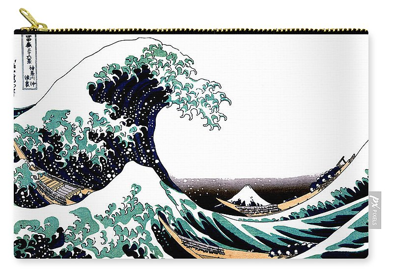 e594c8e86787 Wave carry all pouch featuring the drawing tsunami and mount fuji vintage  japanese ukiyo jpg 800x570