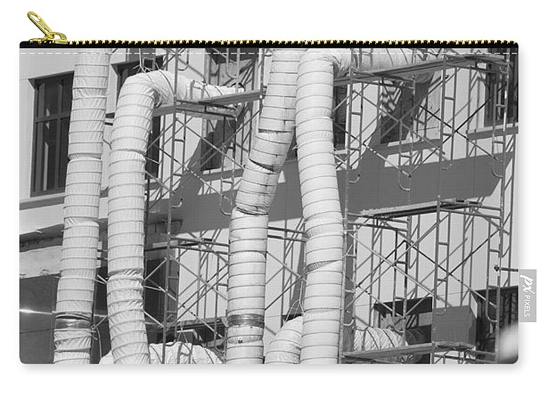 Tubes Carry-all Pouch featuring the photograph Tube Construction by Rob Hans