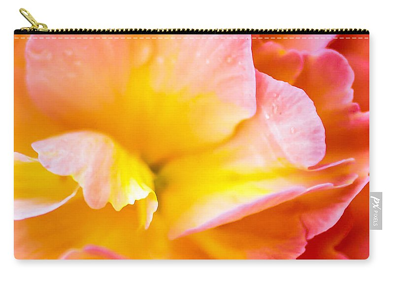 Optical Playground By Mp Ray Carry-all Pouch featuring the photograph Tuberous Begonia by Optical Playground By MP Ray
