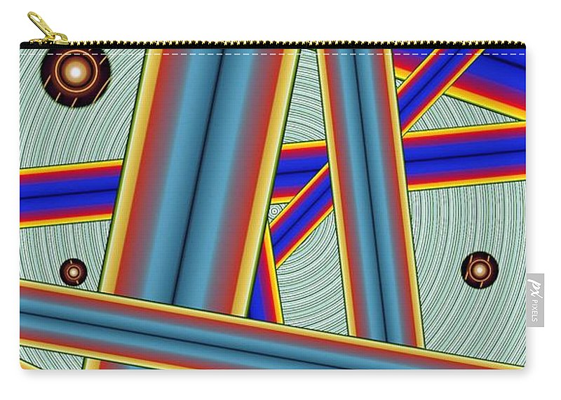 Abstract Carry-all Pouch featuring the digital art Tubes Two by Ron Bissett