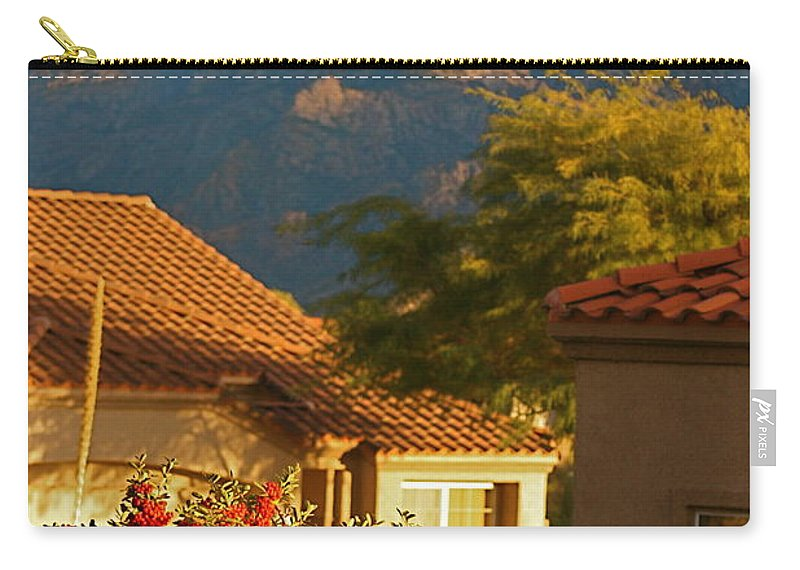Mountains Carry-all Pouch featuring the photograph Tucson Beauty by Nadine Rippelmeyer