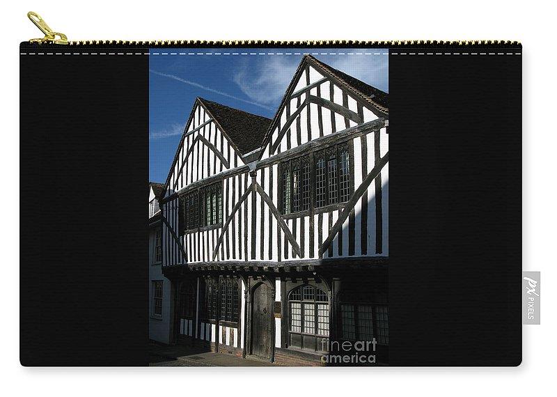 Tudor Carry-all Pouch featuring the photograph Tudor Timber by Ann Horn