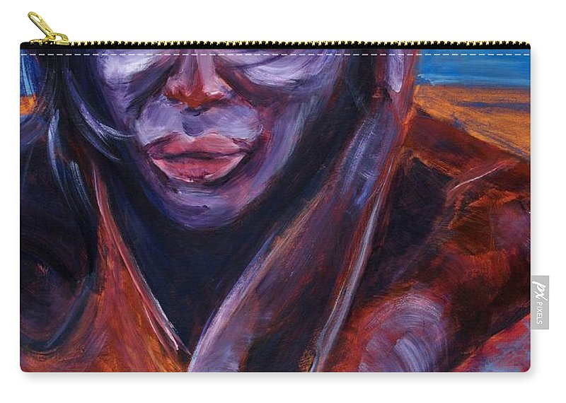 Girl Carry-all Pouch featuring the painting Tuesday by Jason Reinhardt