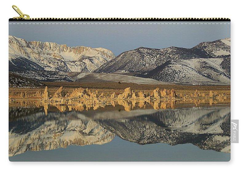 Eastern Sierra Carry-all Pouch featuring the photograph Tufa Dawn by Sean Sarsfield