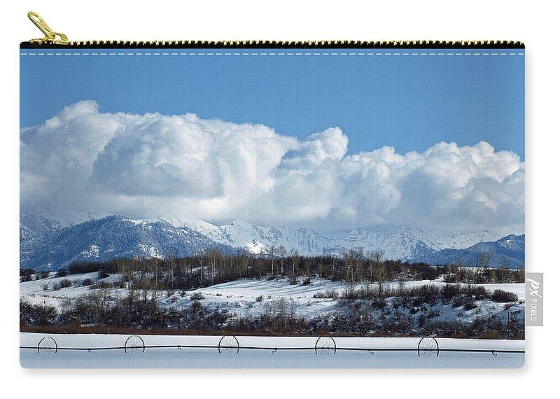 Winter Carry-all Pouch featuring the photograph Tuff Over Baldy by DeeLon Merritt