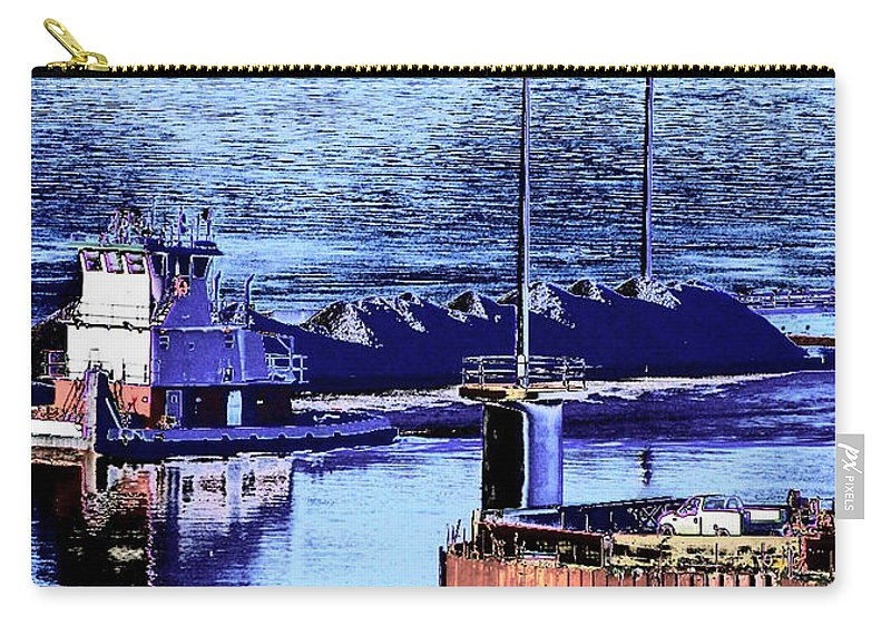 Abstract Carry-all Pouch featuring the photograph Tug Reflections by Rachel Christine Nowicki