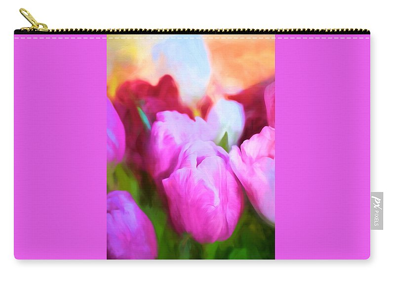 Floral Carry-all Pouch featuring the photograph Tulip 58 by Pamela Cooper