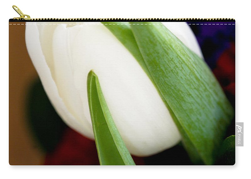 Floral Carry-all Pouch featuring the photograph Tulip Arrangement 4 by Marilyn Hunt