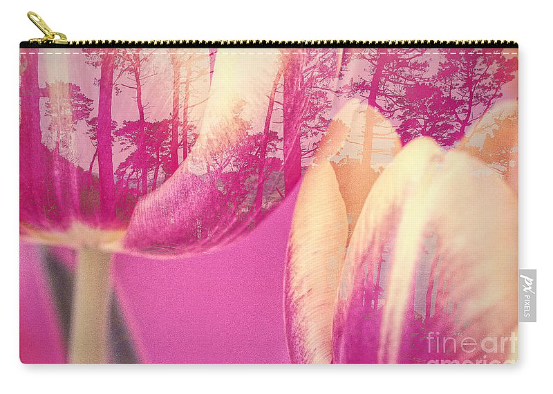 Tulips Carry-all Pouch featuring the photograph Tulip Dawn by Francine Collier