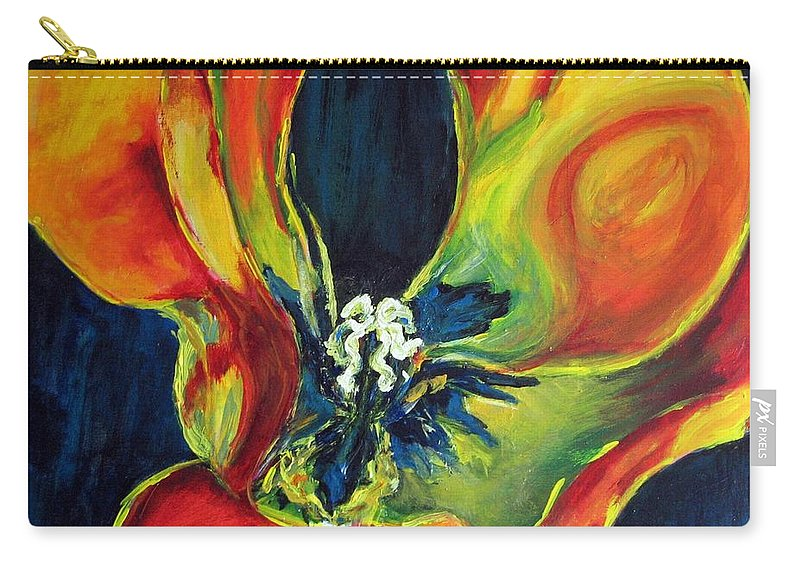 Tulip Carry-all Pouch featuring the painting Tulip by Dragica Micki Fortuna