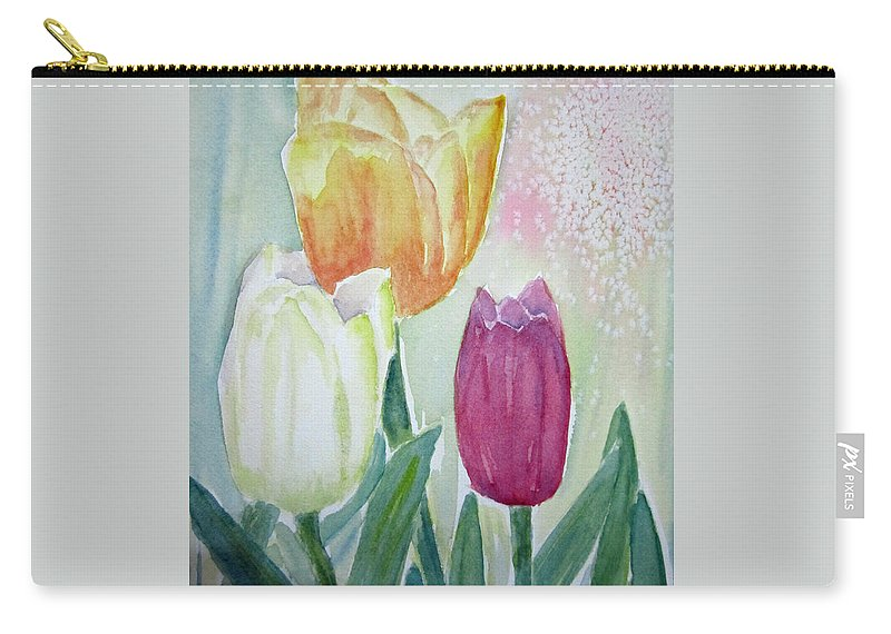 Floral Carry-all Pouch featuring the painting Tulips by Elvira Ingram