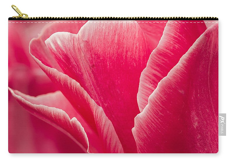 Tulip Carry-all Pouch featuring the photograph Tulip Layers by Mary Jo Allen