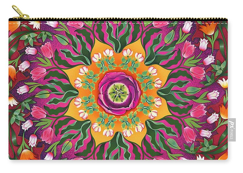 Tulips Carry-all Pouch featuring the painting Tulip Mania 2 by Isobel Brook Haslam