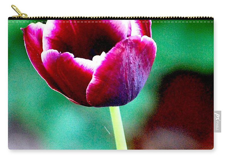 Digital Photo Carry-all Pouch featuring the photograph Tulip Me by David Lane