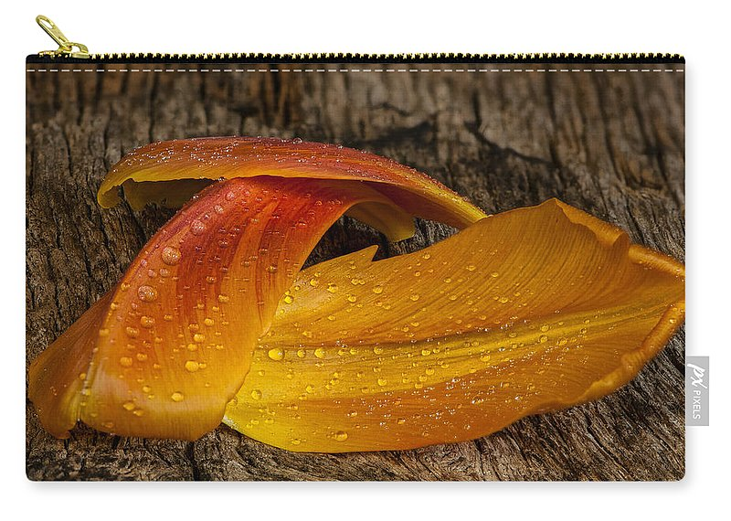 Background Carry-all Pouch featuring the photograph Tulip Petals by Randy Walton